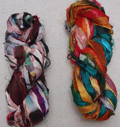 Recycled Sari Silk: Yarns and Fiber | paradisefibersblog